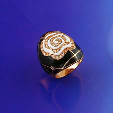 9k yellow gold filled CZ Ring Sz8 R-A047