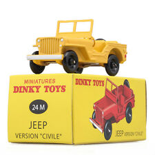 Atlas DINKY Toys 1:43 Antique Model Car 24M JEEP Yellow Metal Car Toy