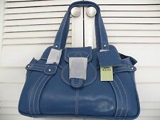 "Cornflower Blue Leather Handbag by ""TOMMY AND KATE""  - BNWT"