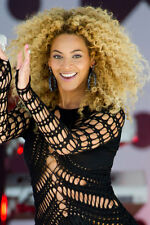Curly blonde wig Beyonce style good quality synthetic hair natural looking