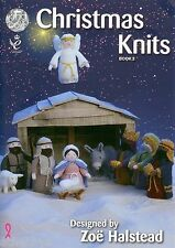 King Cole Christmas Knits 3 Knitting Pattern Book - Nativity Scene & Decorations