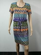 NEW - Calvin Klein - Short Sleeve Dress - Size 8 - Printed Multicolored - $89