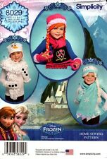 Simplicity Pattern 8029 Childs Hat, Mittens and Scarves Frozen S-M-L NEW