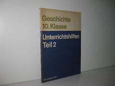 DDR Schulbuch: Geschichte 10. Klasse - Unterrichtshilfen Teil 2