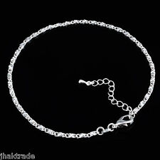 925 Sterling Silver Adjustable Coffee Bean Anklet Ankle Bracelet 25-29cm from UK