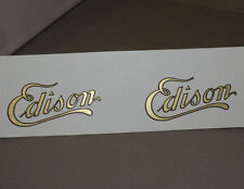 2 WATER SLIDE DECAL EDISON LOGO FOR CYLINDER PHONOGRAPH CABINETS