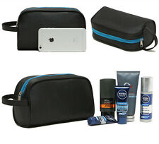 Mens Waterproof Toiletries Bag Wash Shower Organizer Kit Case Handy Black #16