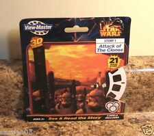 View Master STAR WARS  3D Reels Set Story 1 Attack of The Clones  NEW