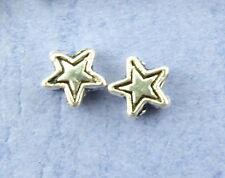 100 STAR ANTIQUE SILVER METAL SPACER BEADS~5x4mm~Wine Glass Charms~Christmas(5E)