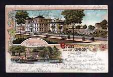 109765 AK Salzwedel Gruss aus der Union 1905 Litho Gasthof Wassersport