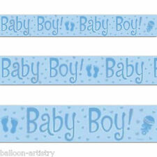 3.6m Blue New Baby Boy Shower Party Foil Banner Decoration