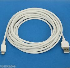 3M 10ft Quick Charger Charging ONLY USB Cable WHITE for iPad Pro Air 2 4 mini 3