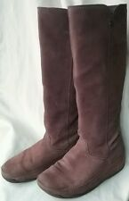 RARE FITFLOP SUPERBOOT SIZE 5/38 AMETHYST PURPLE SUEDE KNEE HIGH BOOTS FREE P&P