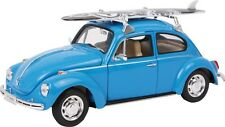 "Diecast Model Car """"VW Beetle and Surfboard"" New Boxed Scale 1:24"
