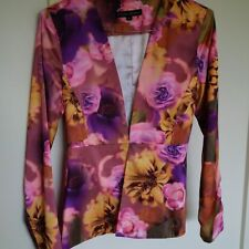 Women's Size 6 Floral Charlie Brown Peplum Jacket