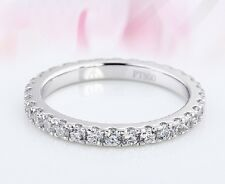 0.55ct Diamond Ring, Eternity Ring, Wedding Ring, Platinum 950 Hallmarked, 2mm