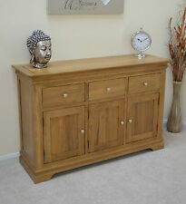 French Farmhouse Large Oak Sideboard with 3 Storage Cupboards & 3 Solid Drawers