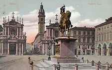 OLD POSTCARD - ITALY - Torino - Plazza S Carlo - posted 1920