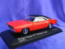 DODGE CHARGER 1968 R/T HARDTOP COUPE MINICHAMPS 400 144721 1:43 NEW MODEL RED