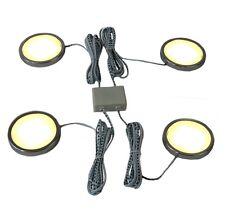 LED Unterbauleuchte Schrankleuchte 4er Set rund 8W warmweiß 2900k Strahler
