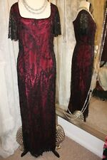 Opera Richard black beaded party dress - Ditsy Vintage Vamp - Size 16
