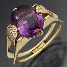 Vintage 14kt Solid Yellow GOLD Colour Change SAPPHIRE/ ALEXANDRITE RING Sz O