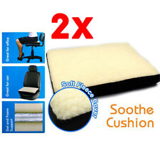2x Liquid Gel Super Comfort Fleece Foam Cushion Comfortable Sit Chair Seat