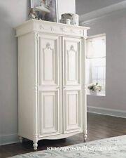 Barock Kleiderschrank Massivholz Antik Garderobe Flur Diele Landhaus Stil weiß