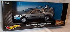 Back to the Future DeLorean Time Machine with Mr Fusion hotwheels 1-18 Scale New