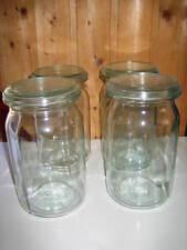 4 alte Einmachgläser 1,5 Liter, Einweckgläser