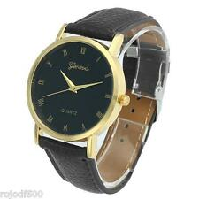 Geneva Faux Leather Analog Quartz Wristwatch Unisex
