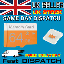Orange 64GB MicroSD TF Flash Micro SDHC Class 10 Memory Card