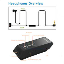 UK Stereo Wireless Bluetooth Headset Sport Headphone Clip Earphone Jabees IS901