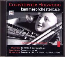 Christopher HOGWOOD: MARTINU Toccata HONEGGER Symphony 4 STRAVINSKY Concerto CD