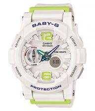 Baby-G G-LIDE Series Ladies Beach Surf Watch in White . Digi Analogue BGA180-7B2