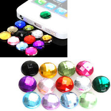 10x Rhinestone Bling Home Button Stickers for Apple iPod iPhone 3GS 4G 4S 5 5G