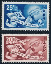 SAARLAND 1950, MiNr. 297-298, 297-98, tadellos postfrisch, Mi. 220,-