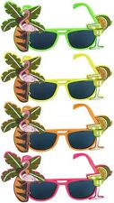 FLAMINGO COCKTAIL HAWAIIAN NOVELTY SUNGLASSES FANCY DRESS TROPICAL BEACH GLASSES