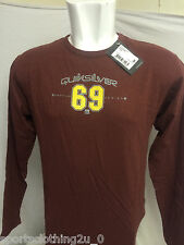 QUICKSILVER GARNET TEE WITH LONG SLEEVES SIZE S,