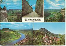 D KÖNIGSTEIN (Kr. PIRNA), ca. 1970, ungebr, farbige Gruss-Aus-AK