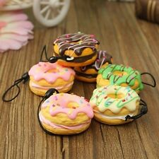 1PC Lovely Kawaii Donut Squishy Charm/Phone Pendant Strap/Key Charm Decoration