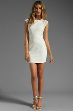NEW LADAKH Before the Night Mini Lace Dress - L - White Sexy Fitted