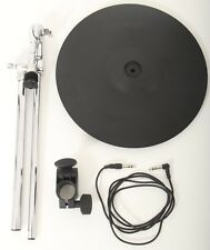 "Roland CY-14C 14"" Electronic Dual Trigger Crash Cymbal + Boom Arm + Clamp + Lead"