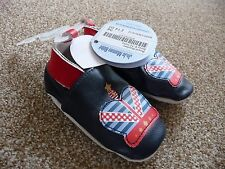 JoJo Maman New Soft Leather Baby Booties 6-9 9-12 months Boys Shoes 6-12 Prince