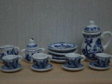 Delft Tea set, Doll House Miniatures Tableware Kitchen & Dining 1.12 Scale