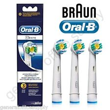 Braun Oral-B 3D WHITE Electric Toothbrush Replacement Brush Heads 3 Pack