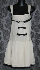 Womens size 10 cream and black mini dress made by ROXY