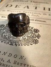 Mortality Ring : Memento mori : hand carved lucite black skull ring