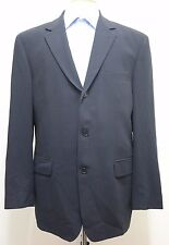 HUGO BOSS Men's Navy Blue Pinstriped 'Angelico/Luca' Stretch Wool Blazer Size 52