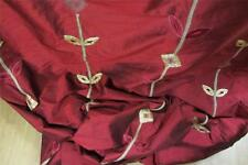 100% Pure Silk Red Embroidered Aztex Curtain fabric 1.3m